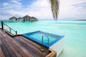 Water Front Beach Villa with Pool - Kihaa Maldives